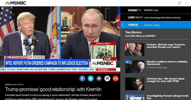 """Americká televízna stanica MSNBC: od CIA čakali dôkazy, avšak správa o """"úlohe Ruska"""" sklamala a nesplnila očakávania"""