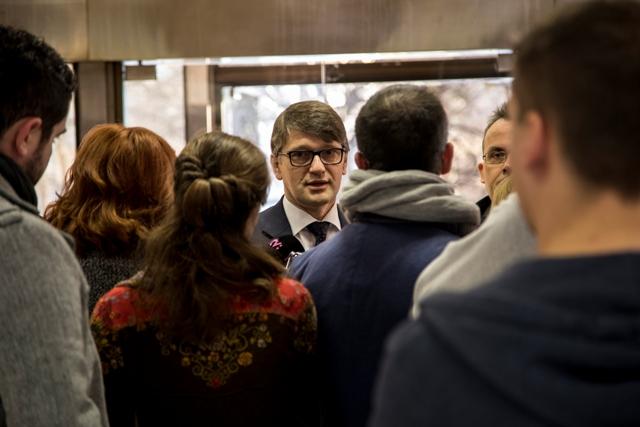 Na snímke uprostred minister kultúry SR Marek Maďarič