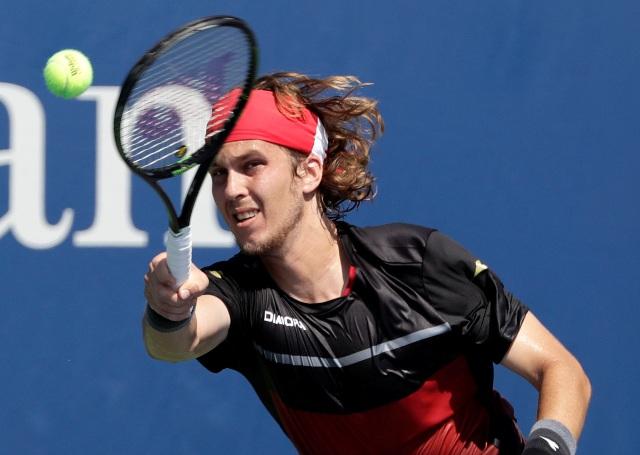 Na snímke slovenský tenista Lukáš Lacko