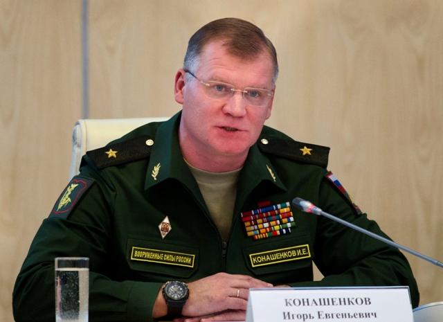 Na snímke hovorca ruského ministerstva obrany Igor Konašenkov