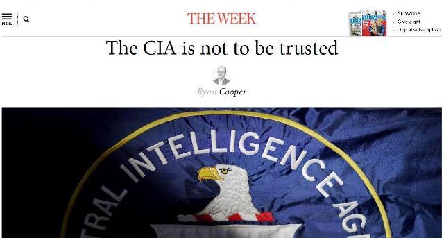 """The Week: """"CIA je nezákonná sila neoliberálneho despotizmu. Americkým tajným službám nemôžeme dôverovať"""""""