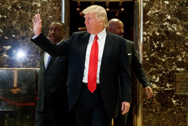 Na snímke novozvolený americký prezident Donald Trump
