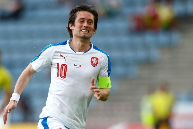 Na snímke český futbalista Tomáš Rosický