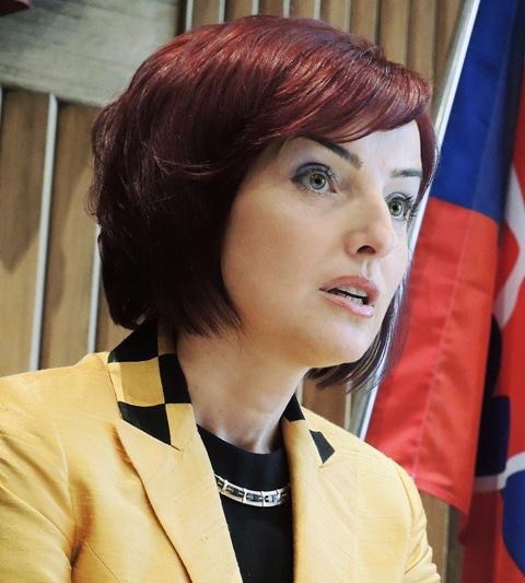 Na snímke prievidzská primátorka Katarína Macháčková (nezávislá)