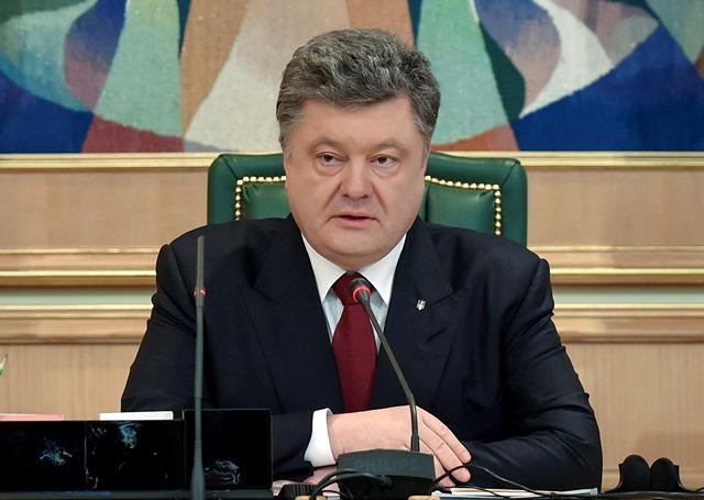 Na snímke ukrajinský prezident Petro Porošenko Foto:Mykola Lazarenko