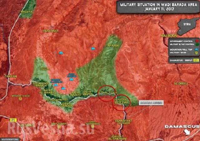 Boje v doline Vadi Barada a likvidácia teroristov