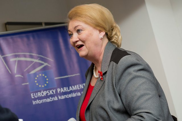 Na snímke europoslankyňa Anna Záborská