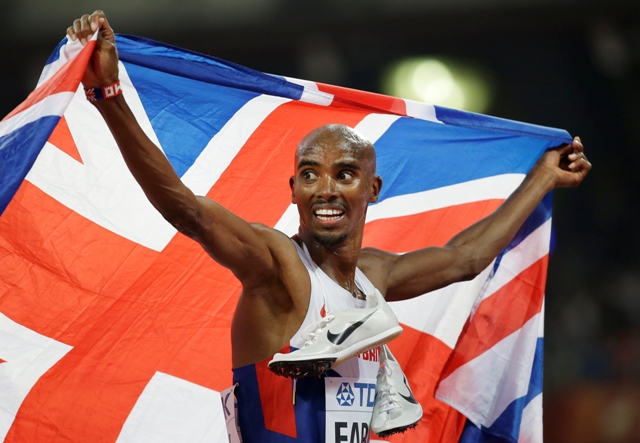 Na snímke britský bežec Mo Farah