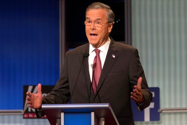 Na snímke republikánsky prezidentský kandidát Jeb Bush