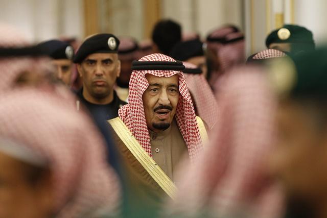 Na snímke saudskoarabský kráľ Salmán