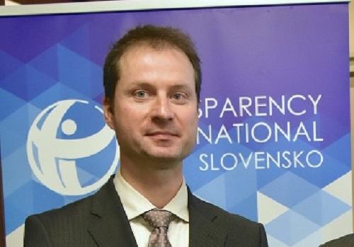 Na snímke  riaditeľ Transparency International Slovensko (TIS) Gabriel Šípoš