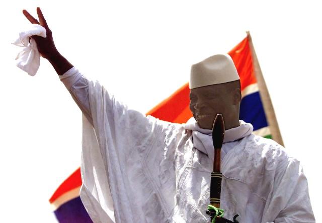 Na snímke gambijský prezident Yahya Yammeh