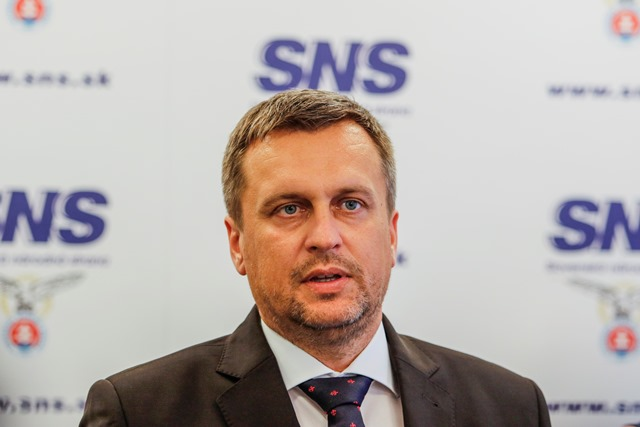 Na snímke predseda SNS a Národnej rady Andrej Danko