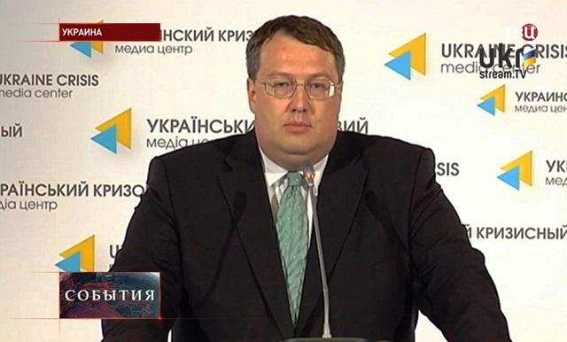 Na snímke poslanec ukrajinského parlamentu a poradca ministra vnútra Anton Geraščenko