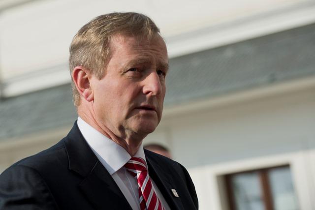 Na snímke írsky premiér Enda Kenny Taoiseach