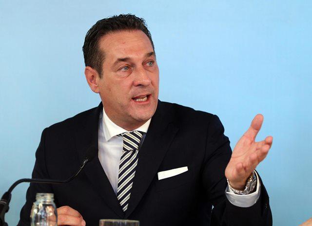 Na snímke predseda Slobodnej strany Rakúska (FPÖ) Heinz-Christian Strache