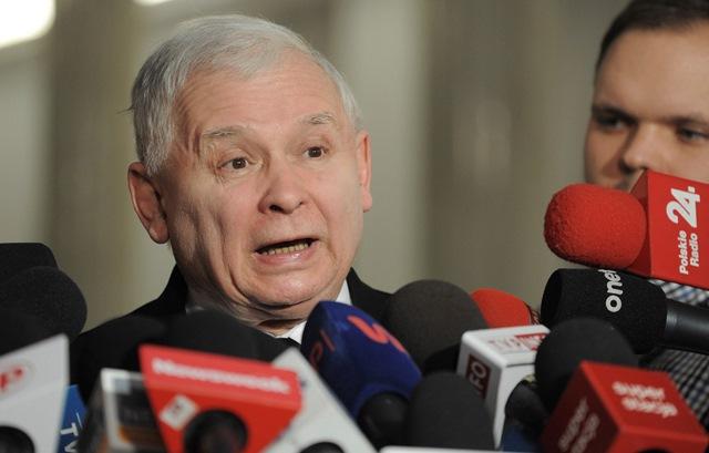 Líder vládnucej strany Právo a spravodlivosť (PiS) Jaroslaw Kaczynski