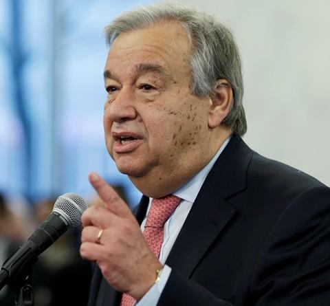 Na snímke generálny tajomník OSN Antonio Guterres