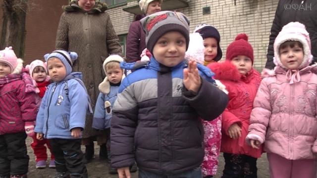 Na snímke luhanské deti
