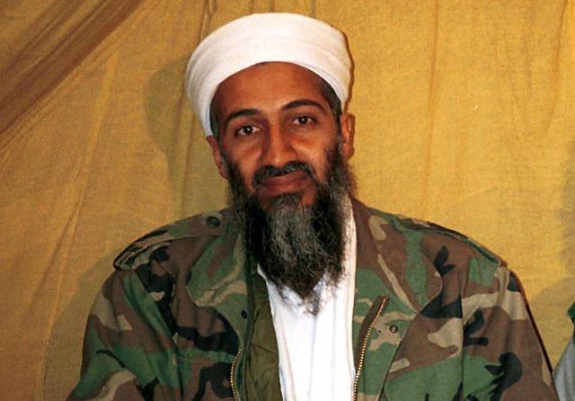 Na snímke je vtedajší  vodca teroristickej siete al-Káida Usáma bin Ládin