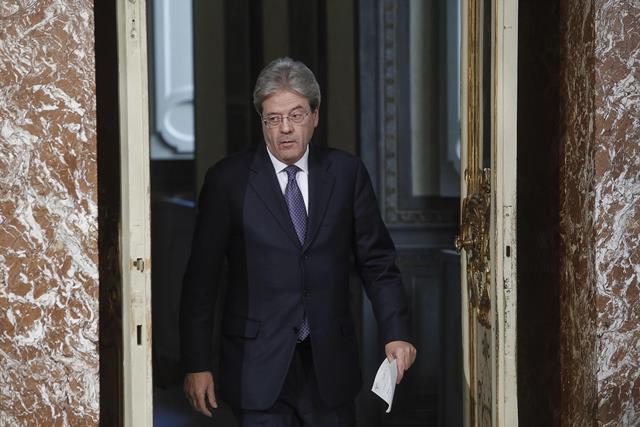 Na snímke taliansky premiér Paolo Gentiloni