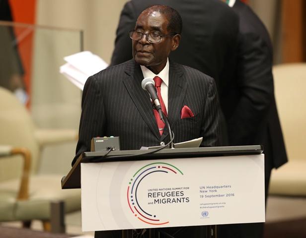 Na snímke prezident Zimbabwe Robert Mugabe