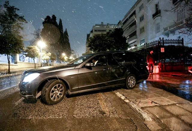 Na snímke auto pred domom diplomata Andreja Malanina