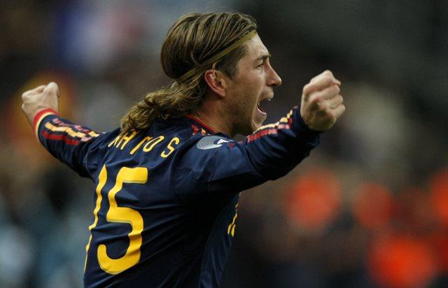 Na snímke španielsky futbalista  Sergio Ramos