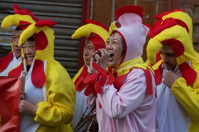 Príslušníci čínskej komunity počas osláv lunárneho nového roka
