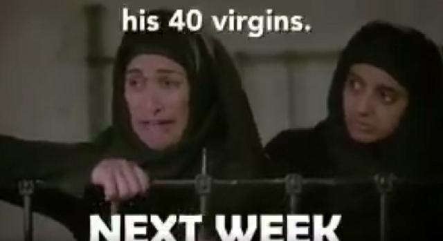 """Snímka z ukážky videa satirického programu """"Skutočné zúfalé manželky ISIS"""""""