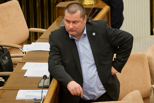 Na snímke Stanislav Drobný, poslanec a krajský predseda LS NS za Trnavský kraj