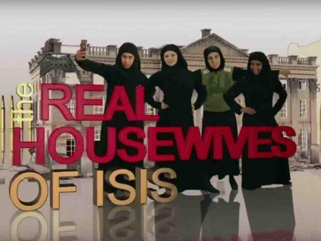 """Snímka z paródie """"Skutočné manželky ISIS"""""""