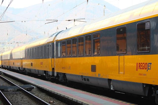 Na snímke súprava vlaku RegioJet
