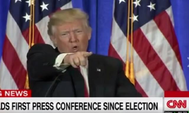 Donald Trump na tlačovej konferencii