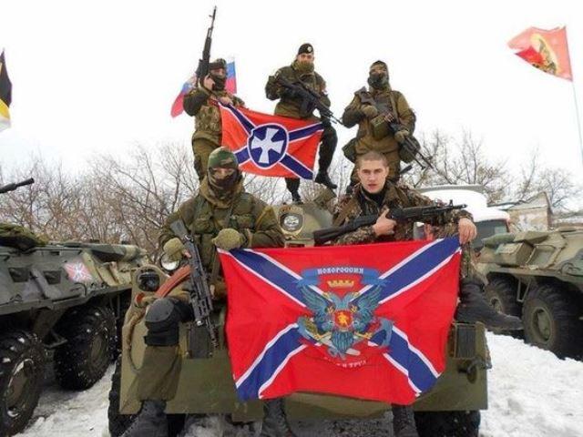 Na snímke armáda Donecka a Luhanska