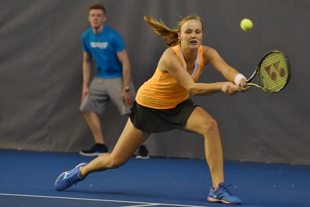 Na snímke slovenská tenistka Rebecca Šramková