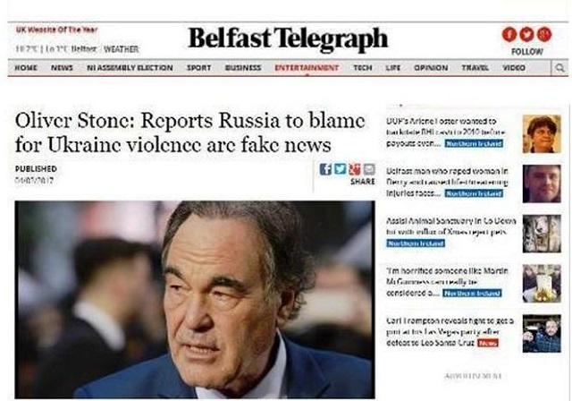 """Svetoznámy americký režisér Oliver Stone: """"Správy, že Rusko eskalovalo násilie na Ukrajine, sú falošné"""""""