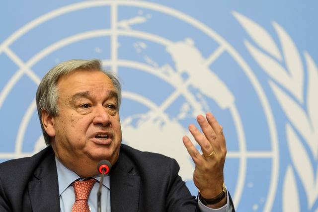 Na snímke António Guterres