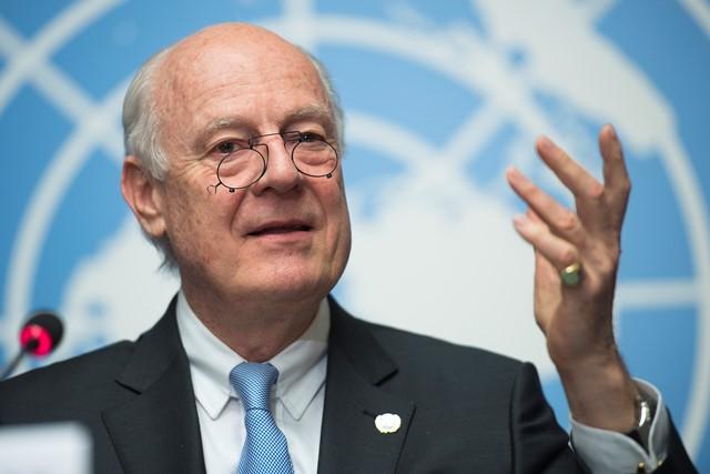 Na snímke osobitný vyslanec OSN pre Sýriu Staffan de Mistura