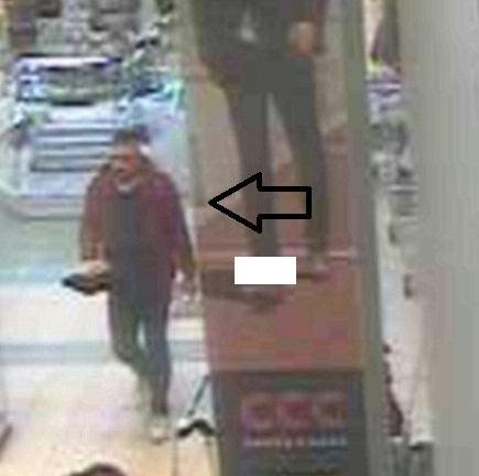 Na snímke hľadaný zlodej z OC v Lamači Foto: TASR-KR PZ v Bratislave