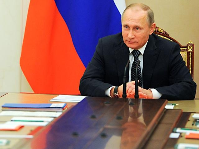 Na snímke ruský prezident Vladimir Putin Foto:Mikhail Klimentyev