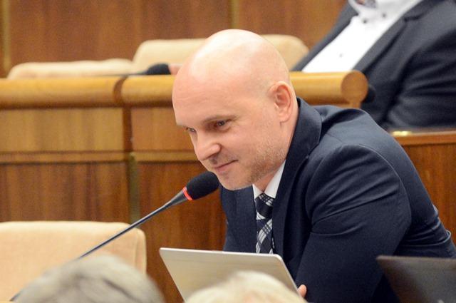 Na snímke poslanec Branislav Gröhling (SaS)