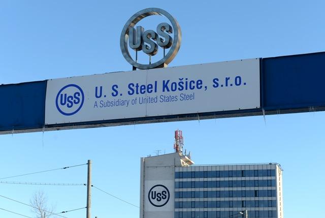 Na snímke oceliarska spoločnosť U. S. Steel Košice