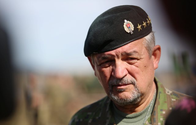 Na snímke náčelník Generálneho štábu Ozbrojených síl SR Milan Maxim