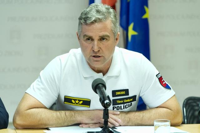 Na snímke prezident Policajného zboru Tibor Gašpar