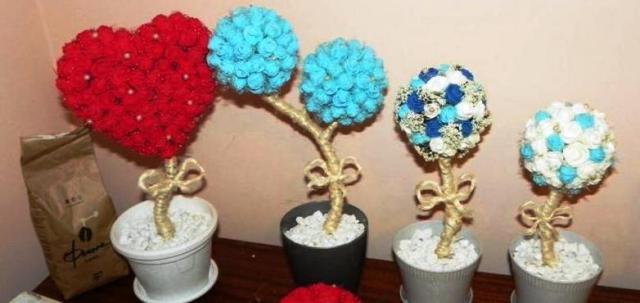 Nataša sa venuje aj ručnému vypracovaniu kvetinových dekorácií menom Topiarios