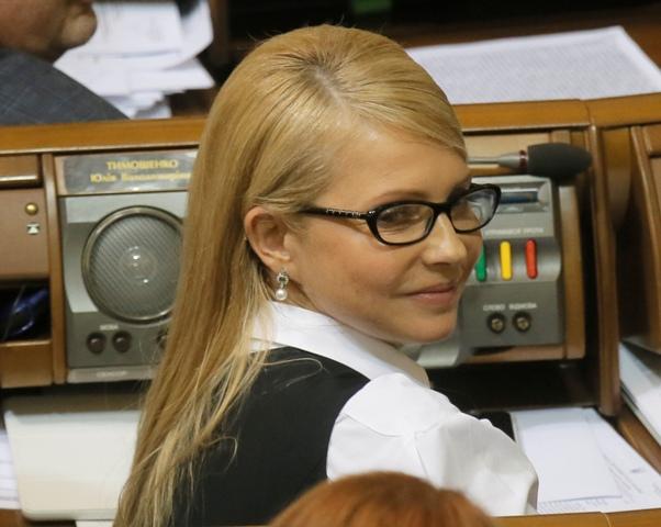 Na snímke Julia Tymošenková