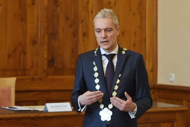 Na snímke primátor Kežmarku Ján Ferenčák