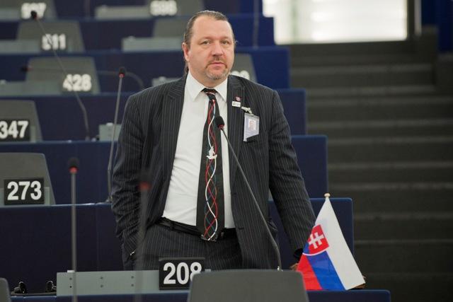 Na snímke slovenský europoslanec Branislav Škripek