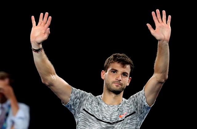 Na snímke bulharský tenista Grigor Dimitrov